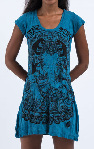 Sure Design Women's Batman Ganesh Dress Denim Blue