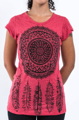 Sure Design Women's Dreamcatcher T-Shirt Red
