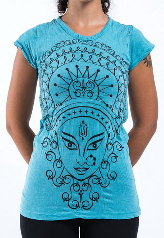 Sure Design Women's Durga Kali T-Shirt Turquoise