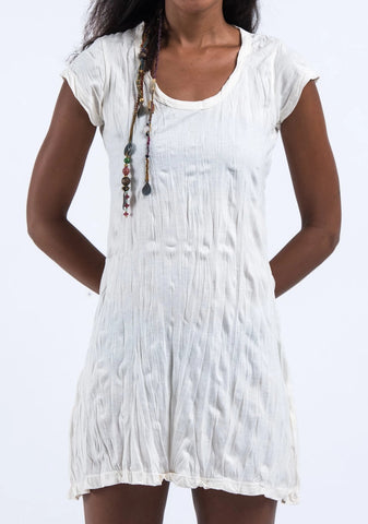 Sure Design Womens Solid Dress White