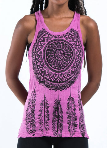 Sure Design Women's Dreamcatcher Tank Top Pink