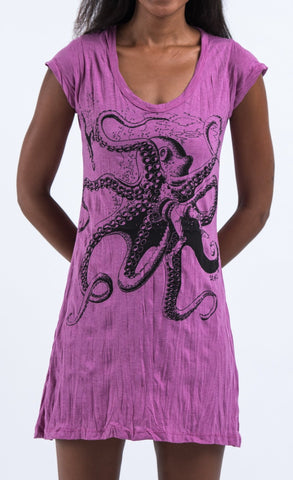 Sure Design Women's Octopus Dress Pink