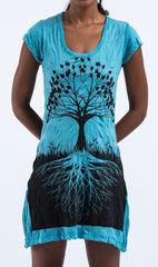 Sure Design Women's Tree of Life Dress Turquoise