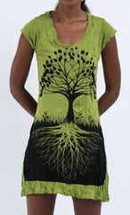 Sure Design Women's Tree of Life Dress Lime