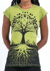 Sure Design Women's Tree of Life T-Shirt Lime