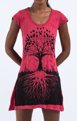 Sure Design Women's Tree of Life Dress Red