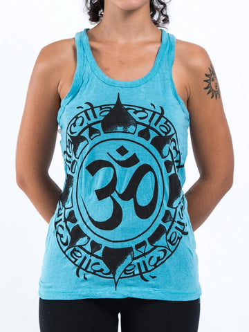 Sure Design Women's Infinitee Ohm Tank Top Turquoise