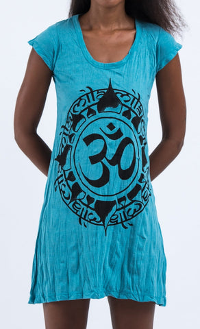 Sure Design Women's Infinitee Ohm Dress Turquoise