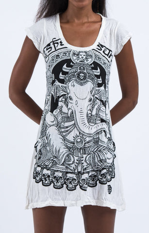 Sure Design Women's Batman Ganesh Dress White