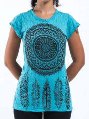 Sure Design Women's Dreamcatcher T-Shirt Turquoise