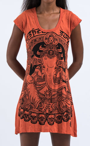 Sure Design Women's Batman Ganesh Dress Orange