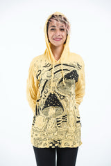 Sure Design Unisex Magic Mushroom Hoodie Yellow