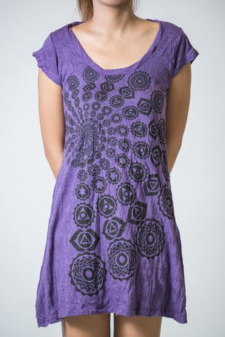 Sure Design Women's Chakra Fractal Dress Purple