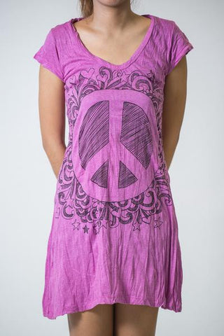 Sure Design Women's Peace Sign Dress Pink