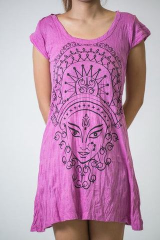 Sure Design Women's Durga Kali Dress Pink