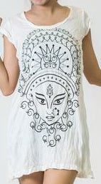 Sure Design Women's Durga Kali Dress White