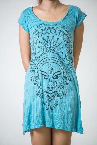 Sure Design Women's Durga Kali Dress Turquoise