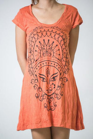Sure Design Women's Durga Kali Dress Orange