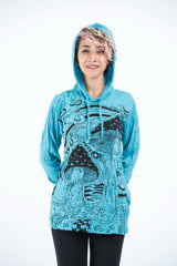 Sure Design Unisex Magic Mushroom Hoodie Turquoise