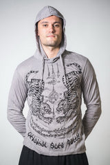 Sure Design Unisex Thai Tattoo Hoodie Gray