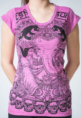 Sure Design Women's Batman Ganesh T-Shirt Pink