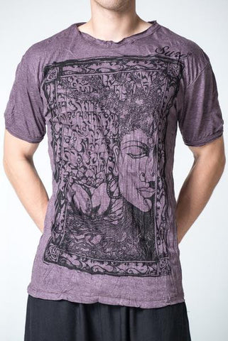 Sure Design Men's Sanskrit Buddha T-Shirt Brown