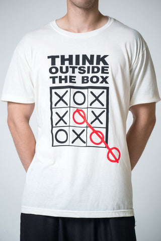 Men's Think Outside The Box T-Shirt White