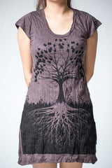 Sure Design Women's Tree of Life Dress Brown