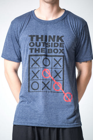Men's Think Outside The Box T-Shirt Denim Blue