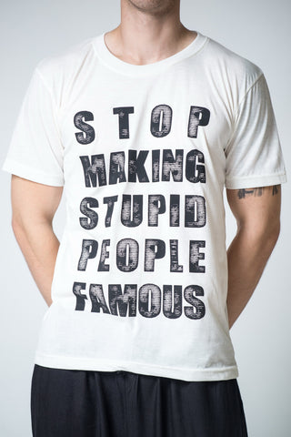 Men's Stop Famous T-Shirt White