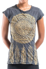 Sure Design Women's Dreamcatcher T-Shirt Gold on Black