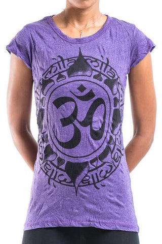 Sure Design Women's Infinitee Ohm T-Shirt Purple
