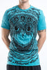 Sure Design Men's Weed Owl T-Shirt Turquoise