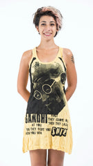 Sure Design Womens Gandhi Tank Dress Yellow