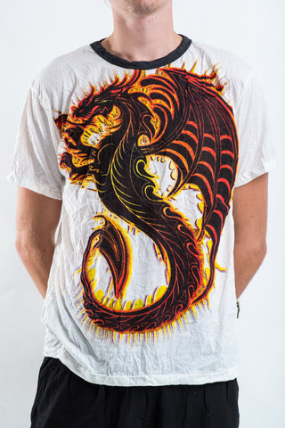 Sure Design Men's Dragon T-Shirt White