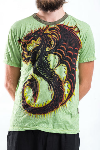 Sure Design Men's Dragon T-Shirt Green