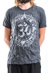 Sure Design Men's Infinitee Ohm T-Shirt Silver on Black