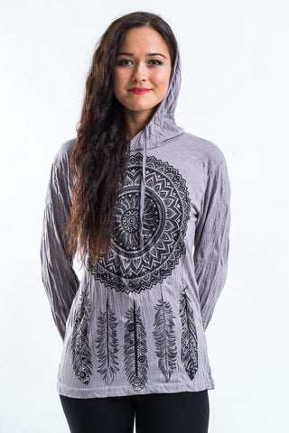 Sure Design Unisex Dreamcatcher Hoodie Gray