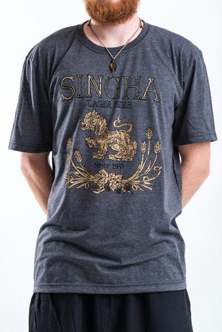 Men's Singha Beer T-Shirt Black