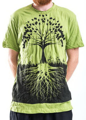 Sure Design Men's Tree Of Life T-Shirt Lime