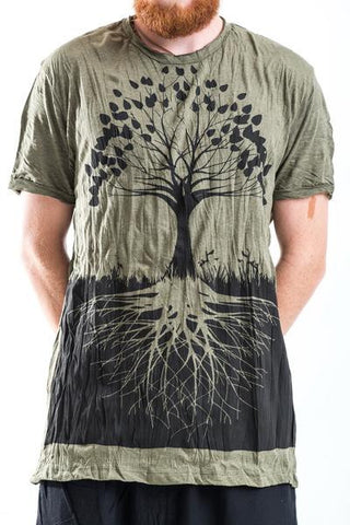 Sure Design Men's Tree Of Life T-Shirt Green