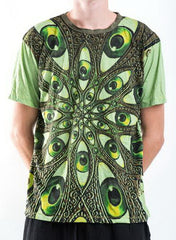 Sure Design Men's Eyes Of The World T-Shirt Green