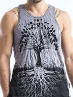 Sure Design Men's Tree Of Life Tank Top Gray