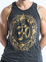 Sure Design Men's Infinitee Ohm Tank Top Gold on Black