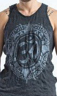 Sure Design Men's Infinitee Ohm Tank Top Silver on Black