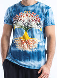 Wholesale Sure Design Tie Dye Men's Tree Of Life T-Shirt Blue - $7.00