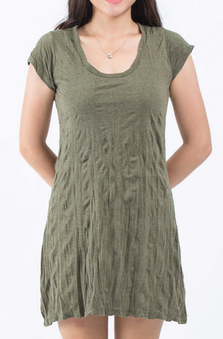Sure Design Womens Solid Dress Green