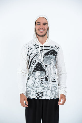 Sure Design Unisex Magic Mushroom Hoodie White