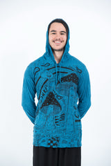 Sure Design Unisex Magic Mushroom Hoodie Denim Blue