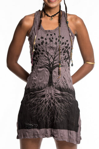 Sure Design Women's Tree of Life Tank Dress Brown
